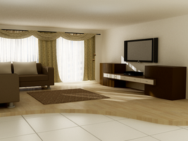 living room-shadow tedt by dragon2525