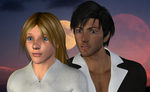 Trigun: Milly + Wolfwood (3D) by EdenEvergreen