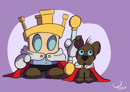 King and his Owner by ChipstickzNom
