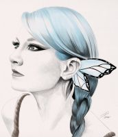 Butterfly Girl by davepinsker