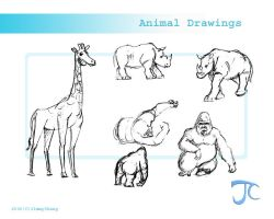 animal drawings by JimmyChang83