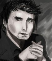 Matthew Bellamy Portrait by LordDoublesword