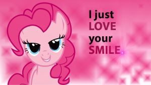 Wallpaper Pinkie just love your smile by Barrfind