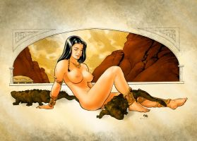 Frank Cho Dejah Thoris Painting by Giox