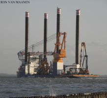 Dutch offshore construction jack up Aeolus 2014- by roodbaard1958