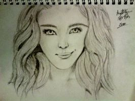Chanel Celaya Smile : Drawing by LelouchArt