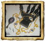 Mystic Eye Gold toned Rosary by grimdeva
