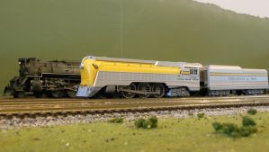 Chessie Hudson 490 and Greenbrier 610 by rlkitterman