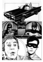 Classic Batman TV Inks by westleyjsmith