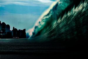 Tsunami at Midday by jesus-at-art