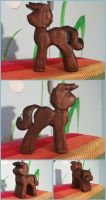 Sailboat Stallion Toddler Teether in Walnut by xofox
