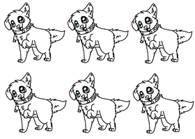 puppy adopt lineart by P0CKYY
