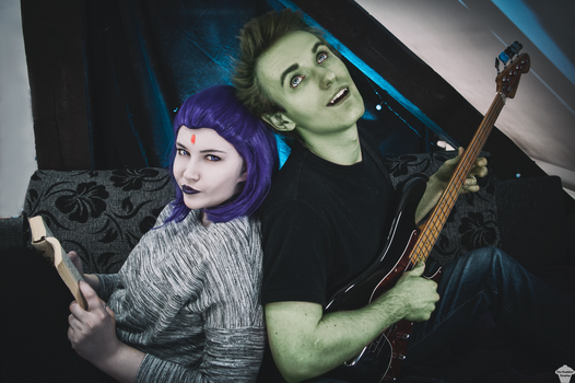 Raven and Beast Boy (casual) by ThePuddins