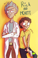 Rick AND Morty by Bluszczyq