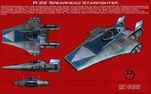 R-22 Spearhead starfighter ortho [New] by unusualsuspex