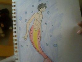 OP: Merman Luffy by XfangheartX
