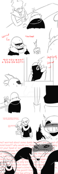 i-i'm not worried!! (UnderFell comic Part 2) by WarandCats