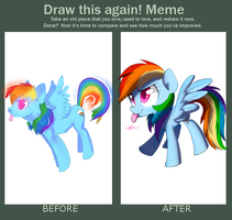 Draw this again - Rainbow dash by Affanita
