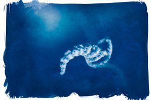 Cyanotype Unfolding by firesign24-7