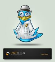 Cuban Twitter Mascot Design by LanotDesign