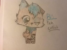 Blu teh Collieh! by cyancrap