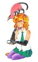 Angeline McGreen-Ace Detective by Bananniebutt