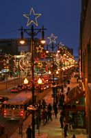 Christmas lights in the city by twopointeight