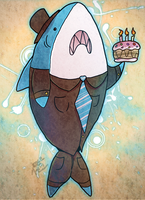 In Which Shark Gives You Cake by Marraphy