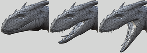 Dragon - Jaw WIP demonstration by jo-shadow