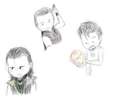 Avengers Sketches by EGH2493