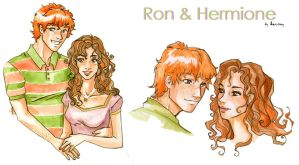 Ron and Hermione by Karmypu