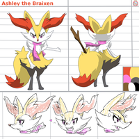 CM: Ashley the Braixen by shadowhatesomochao