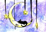 The Cat on the Moon by sashas