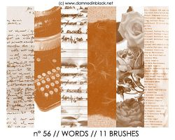 PHOTOSHOP BRUSHES : words by darkmercy