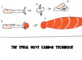 The Spiral Wave Cannon by MegaScarletsteam