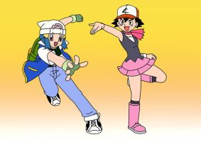 Ash and Dawn Head Swap by L4Drules4