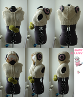 Shiny Flaaffy knitted hood - for sale! by MedeiaDesigns