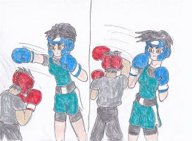 sparring- Rosa and Isaac pt 1 by ravenf6