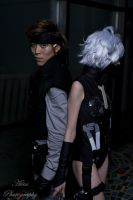 Sweet Raiden and Solid Snake by Magsley-Bag