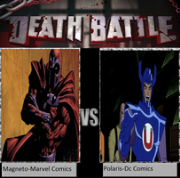 Magneto vs Polaris by newsuperdannyzx
