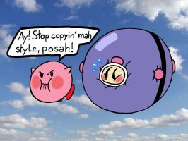 Kirby is angry about Bomberman by LazyAsHell