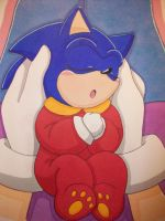Baby Sonic and Bernadette by AzumiAngel
