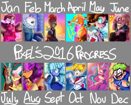 2016 Progress by PixelHeartArt