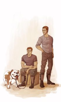 PR - Father and Son... and Dog by the-evil-legacy