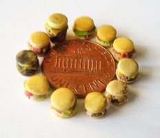 MICRO mini BURGER variety pack by LittleCalorieGallery