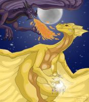 dragon fight 1 by Denece-the-sylcoe