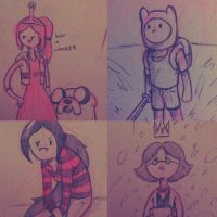 Adventure Time Scribbles by MichaelthePure
