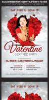 Valentines Banquet and Party Flyer Template by Godserv