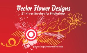 21 Vector Flower Designs Brush by fiftyfivepixels