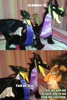 Scar meets my Maleficent plushes by Pouasson-de-oro